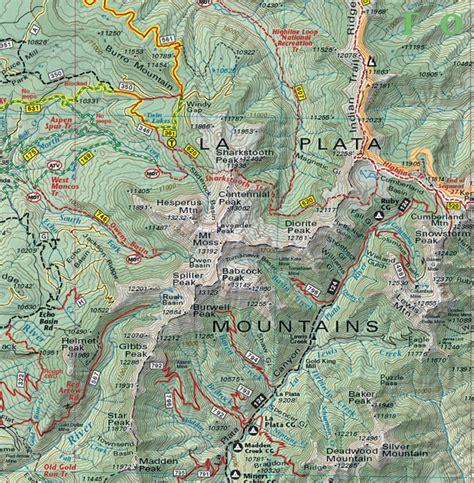 southwest colorado map southwest colorado trails recreation topo map latitude
