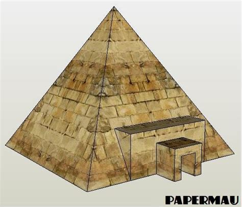 A Paper Pyramid - papermau a simple pyramid paper model for dioramas rpg