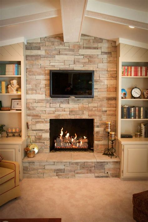 Fireplace Ledgestone by Inspiring Ledge Fireplace Extraordinary Ledge Glass Window Fireplace With Lcd Tv