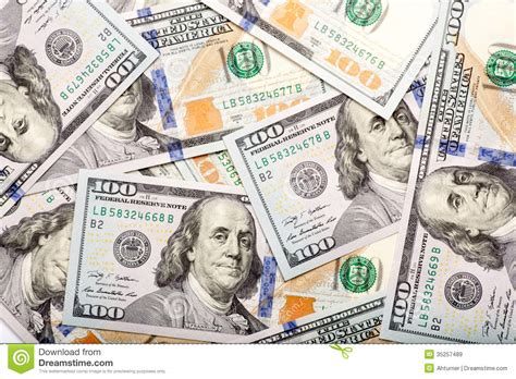 folded 100 dollar bill business card new dollar newly minted 100 bills background royalty free stock