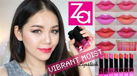 Lipstik Za review za vibrant moist lipstick