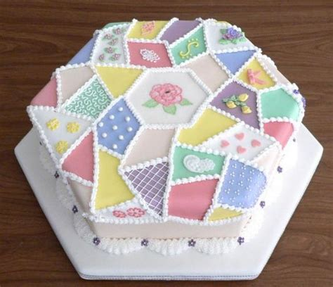 Patchwork Cake - cool patchwork fabric birthday cake jpg 2 comments