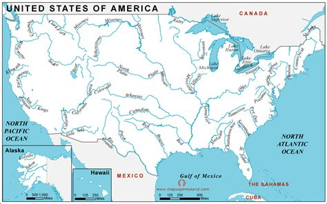 united states map with rivers and cities united states of america country profile free maps of