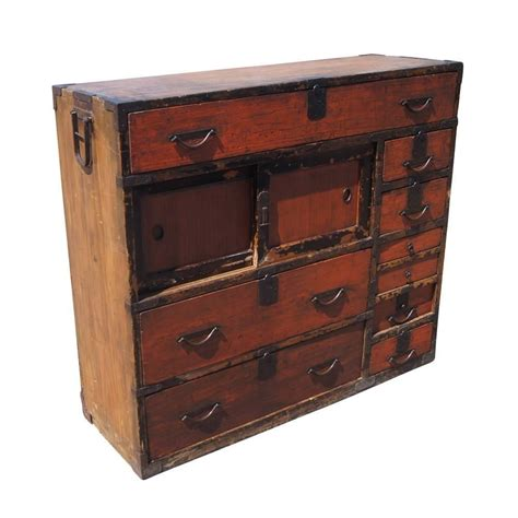 japanese chest antique antique japanese meiji period tansu mizuya dōko for sale