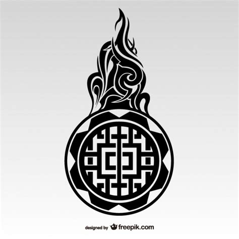tribal tattoo maori style vector free download