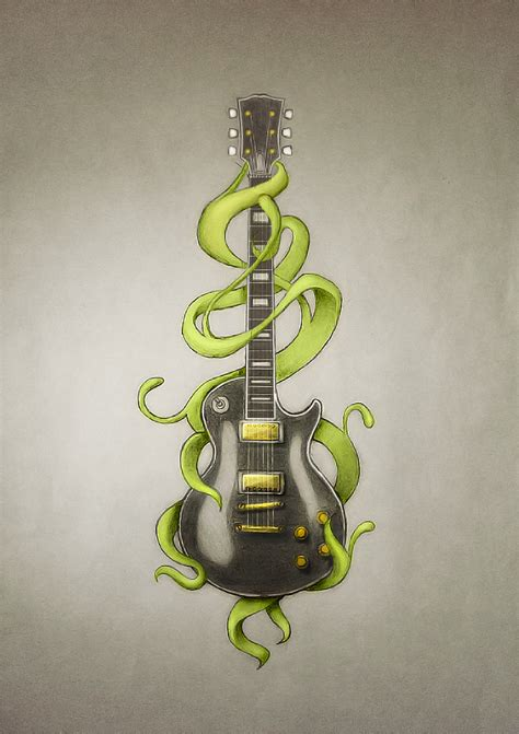 tattooed heart ultimate guitar guitar tattoo by power o f f on deviantart