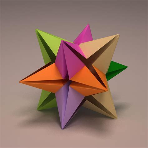 how to make 3d star and balls origami modular origami magenta small size 194 183 origami modular origami