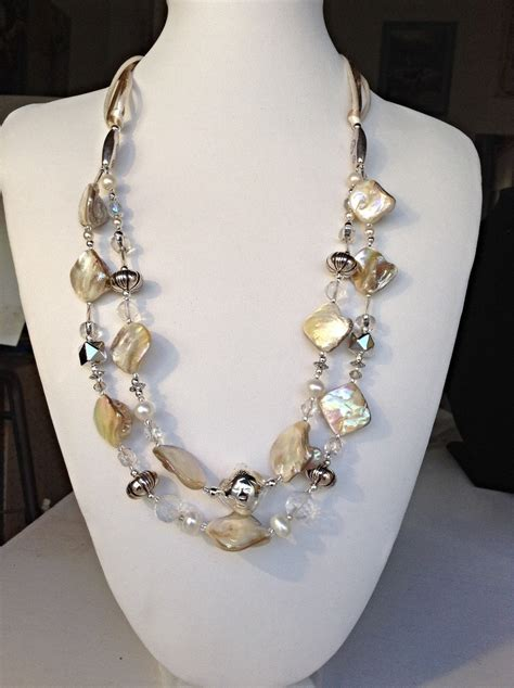 Handmade Pearl Necklaces - handmade of pearl pearls and crystals necklace