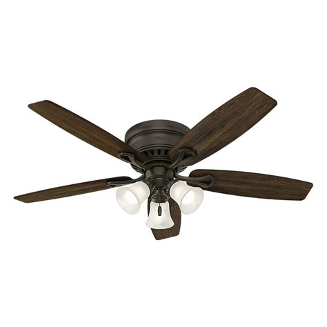 hunter builder elite 52 in indoor new bronze ceiling fan hunter oakhurst 52 in led indoor low profile new bronze