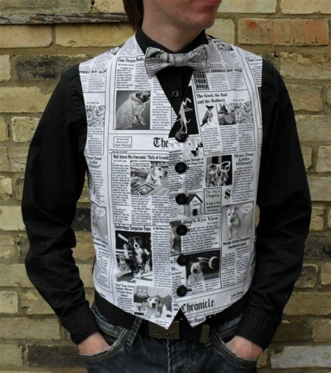 Clothes Out Of Paper - waistcoat made from paper search upcycled