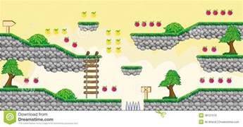 Wood Toy Box Plans Free by 2d Tileset Platform Game 6 Royalty Free Stock Image Image 38127016