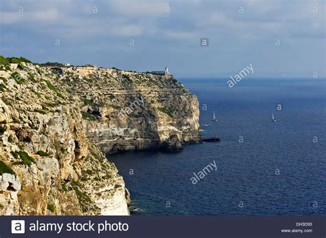cabo blanco mallorca coastal cliffs with a lighthouse at cabo blanco tolleric