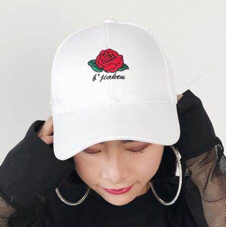 Flower Embroidered Baseball Cap flower embroidered baseball cap for bow caps
