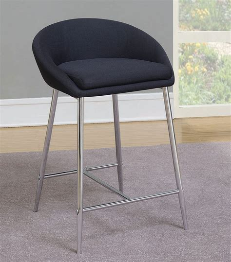 Coaster Contemporary Counter Height Stools by Contemporary Grey Counter Height Stool Set Of 2