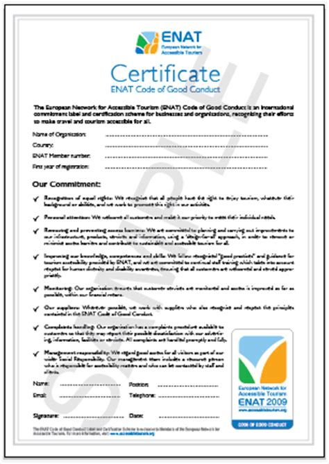 conduct certificate template sparrow experience certificate sle