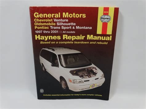 motor auto repair manual 1999 pontiac montana electronic toll collection haynes venture silhouette trans sport montana repair manual 1997 to 2001