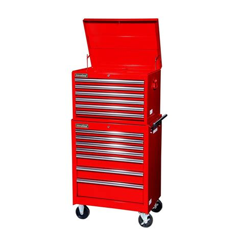 Tool Storage Cabinets Shop International Tool Storage 13 Drawer Bearing Steel Tool Cabinet At Lowes