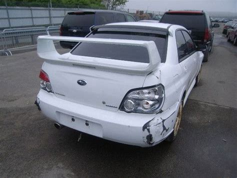 wrecked subaru buy used 2006 subaru impreza wrx sti clean title damaged