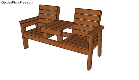double chair bench plans free garden plans how to build garden projects
