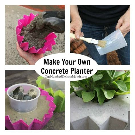 How To Make Cement Planters by How To Make A Concrete Planter One Hundred Dollars A Month