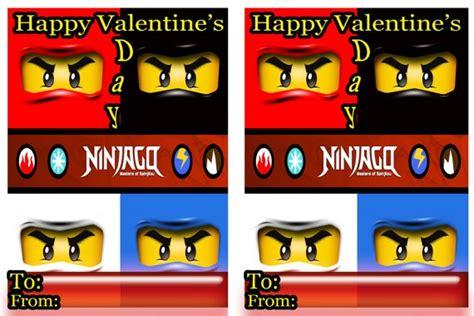lego ninjago valentines cards s pet
