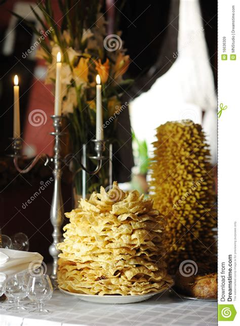 Wedding Congratulations In Lithuanian by Tradicional Lithuanian Wedding Cake Royalty Free Stock
