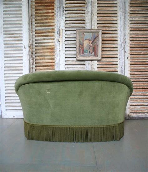 small settees for sale small french settee in green velvet at 1stdibs