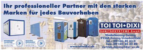 dixi wc deining k 246 nigs bau branchenbuch by 92