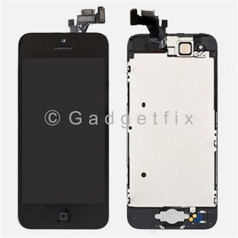 Lcd Hp Iphone 5 usa black touch screen digitizer lcd screen display button for iphone 5 231999111952