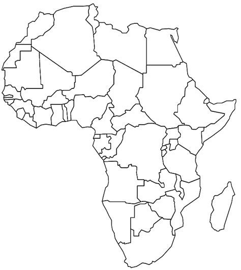 a sketch of africa map line drawing africa gallery