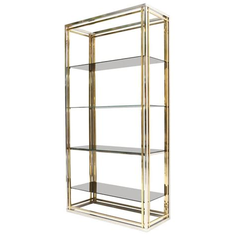etagere 8 cases brass and chrome etagere at 1stdibs