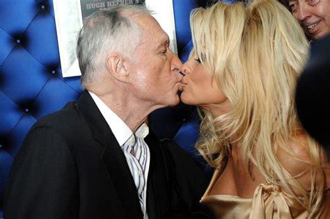 Hefner Thrilled About Pam Andersons Divorce by Breaks In Tears In Tribute To Hugh Hefner