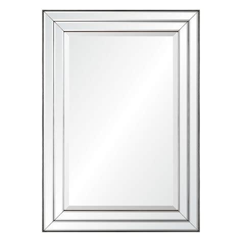 mirror frames shop allen roth mirror on mirror beveled wall mirror at
