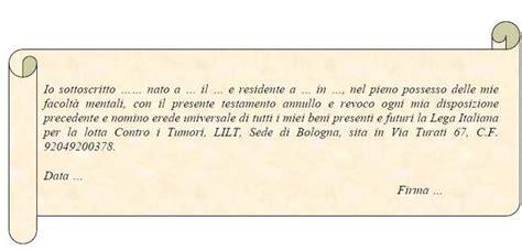 erede universale testamento olografo esempi di testamento olografo