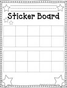 behavior sticker chart template sticker behavior chart template hairstylegalleries