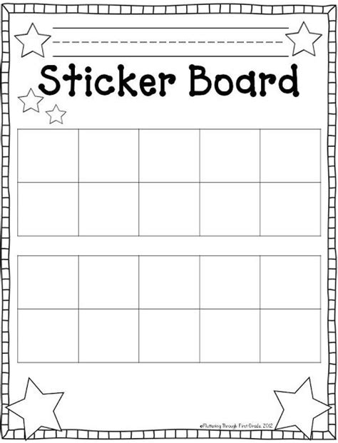 sticker behavior chart template search results for