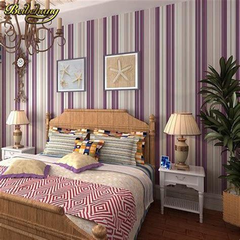 bedroom wallpaper stripes beibehang bedroom wallpaper purple stripe wallpaper wall