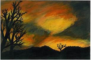 warm color acrylic painting by invadertigerstar on deviantart