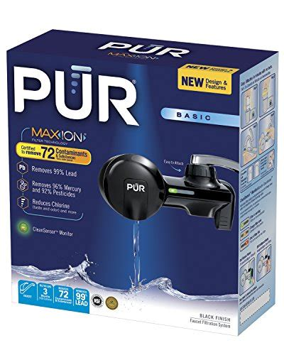 Pur Water Faucet Filter Troubleshooting pur pfm100b black horizontal water filtration faucet mount