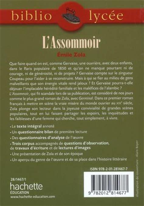 Resume L Assommoir by Livre L Assommoir 201 Mile Zola