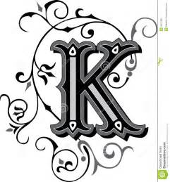 beautiful ornament letter k stock image image 38517951