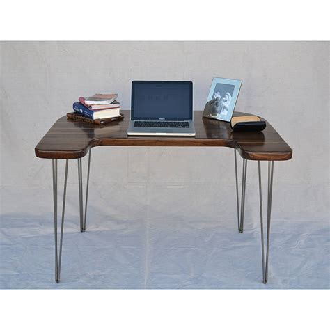 walnut computer desk walnut computer desk by boxcar notonthehighstreet