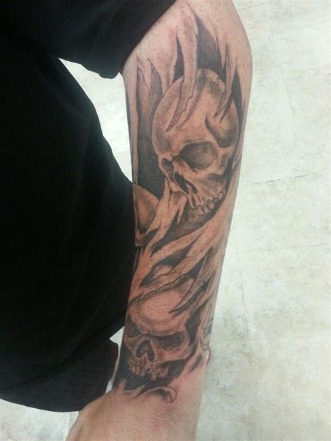 skull arm tattoo rudy pinterest