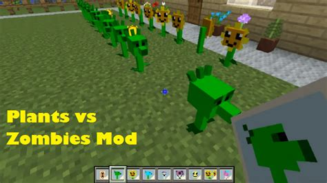 mod game plant vs zombie plants vs zombies mod for minecraft file minecraft com