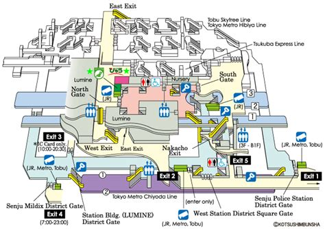 tokyo station floor plan jr east guide maps for major stations kita senju station