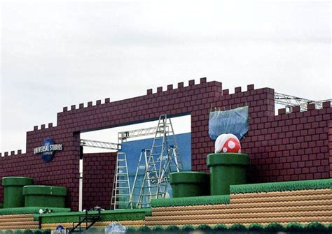 theme park under construction very first photos from the super nintendo theme park in japan