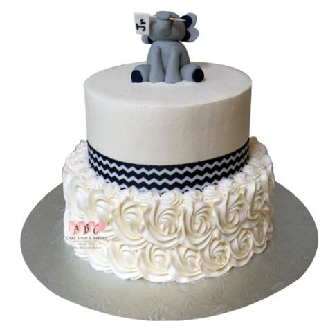 Baby Shower 2 Tier Cakes by 2250 2 Tier Elephant Baby Shower Cake Abc Cake Shop