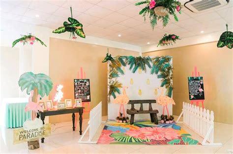 Kara S Ideas Hawaiian Luau Kara S Ideas 187 Tropical Flamingo Paradise