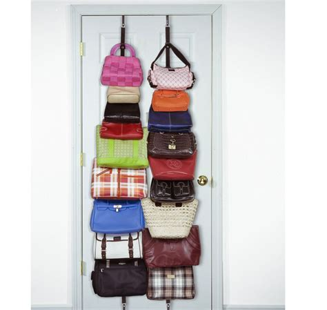 ideas for hanging backpacks easy handbag storage ideas