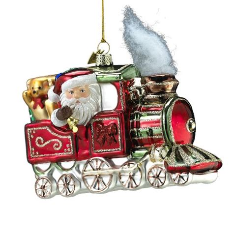 moveable christmas train ornaments 25 glass ornaments center